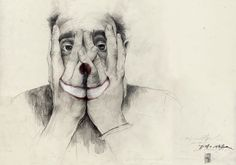 PHILLENNIUM BLOG - Philipp Zurmoehle Design Blog #prades #simon #clown #portrait #hands #face #drawing