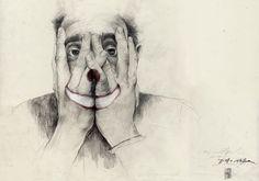 PHILLENNIUM BLOG - Philipp Zurmoehle Design Blog #portrait #drawing #face #hands #clown #simon prades