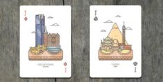 Explore the City Playing Cards