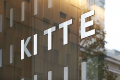 KITTE - Logo and sign system design by Hara Design Institute #window #photo