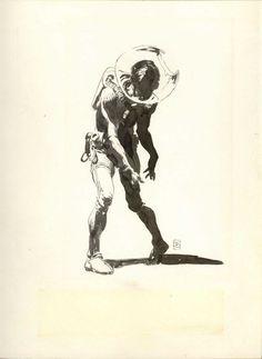 whizbangpow:Jones #zombie #illustration #space