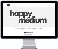 mediumstudio webscreen #white #black #website #and #typography