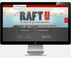 Raft U on the Behance Network #digital #illustration #education #web