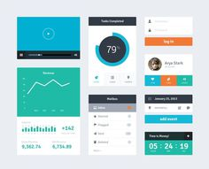 Flat ui #flat #colourful #modern #dashboard #minimal #rounded