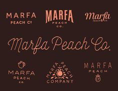 Marfa_peach_co #lettering