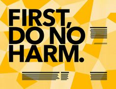 first do no harm ad from lockstep studio #type #orange #advertising #typography