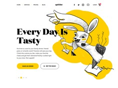 food delivery service website
