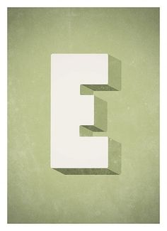 The Alphabet poster RetroStyle typographic wall by NeueGraphic