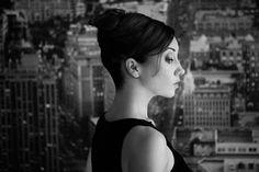 Katharina Angerar by Waldemar Salesski #waldemar #woman #white #black #portrait #salesski #actress