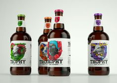 lovely package trophy beer 1 #packaging #design #graphic