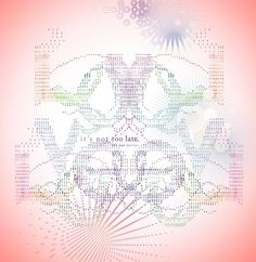 Hee K. Chun #typography #typed #tones #delicate #love #pastel