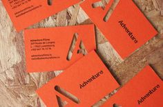 Adventure - Sam Lane Graphic Design #die #cut #business #card #print #orange