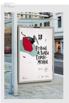 KORP. Festival de Danza Experimental - Parte I on Behance #lettering #festival #design #graphic #dance #poster #collage
