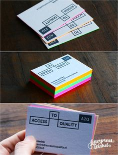Fluor edge color letterpress Business card by Letterpress Winkel