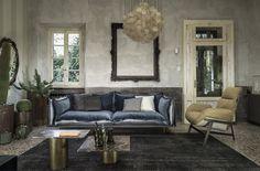 Modern Leather Italian Sofa with Built-in Zipper - #design,  #furniture,  #modernfurniture,