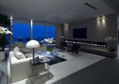 30 Thrilling Open Plan Living Rooms with a View #interior #design #view #fireplace