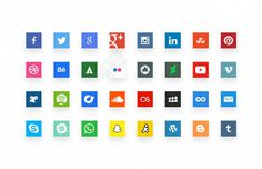 Minimal Social Media Icon