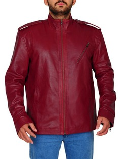 Men's Fashion Red Blood Slim Leather jacket With Awesome Look! Here topleatherjackets.com providing you Red Slim Fit Jacket for men's in Affordable Price. #MenFashion #LifeStyle #LeatherJacket #SlimFit
