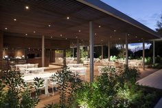 Outdoor Pool Hidden in Forest Park - #outdoor,   #architecture,  #restaurant, restaurant