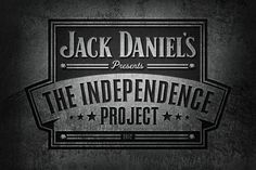 Jack Daniel's Independence Project Daran Brossard Creative Co. / DBCCo. #enclosure #crest #daniels #jack #logo #typography
