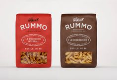 Rummo Italian pasta packaging design #packaging #pasta #rummo #fusilli
