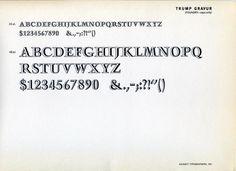 Trump Gravur type specimen #type #specimen #typography