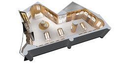 3d floor plan Parfum Palace #architekturines #vizualizacijos