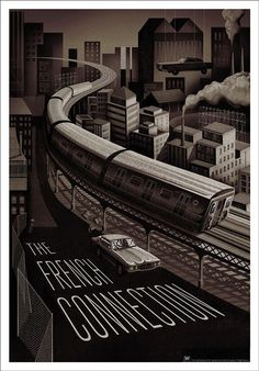 The French Connection - Adam Simpson #subway #illustration #poster