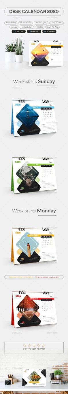 Desk Calendar 2020 - Calendars Stationery #calendar #deskcalendar #calendar2020 #desk #modern #wall #wallcalendar #creative #modern #business #decor #interior #envato #graphicriver #fiverr #freepik #freelance #freelancer #desktop #office #upwork #linkdin #pinterest #instagram #design #2020 #print #Stationery