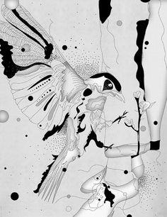 Yellow Bird Machine -- Illustrations by Amy Martino