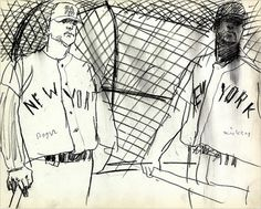 Back in the Swing, 1962 - The New York Times > Opinion > Slide Show > Slide 1 of 16 #robert #documentary #sketches #illustration #weaver #baseball #drawing