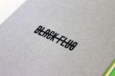Black-Fluo #logotype #stamp #through #type #strike #typography