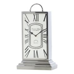 Nepean Silver Table Clock, 47 cm