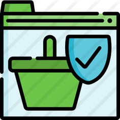 See more icon inspiration related to seo and web, commerce and shopping, online shopping, shopping basket, protection, secure, interface, security and shield on Flaticon.