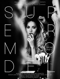 Supermodel | Volt Café | by Volt Magazine #beauty #white #design #graphic #black #photography #art #and #fashion #layout #typography