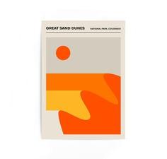 Great Sand National Park Colorado Poster Minimalist Print image 0