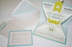 Stephany Gill | Saray & Mark #gill #invitations #stephan #wedding #production