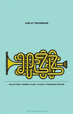Jazz at the Kessler - Antonio F. Mondragon-Becker #illustration #poster