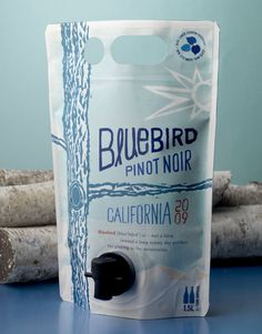 Bluebird Wine Home Team Wines AstraPouch AstraPouch California and North Coast #packaging #wine #bagged