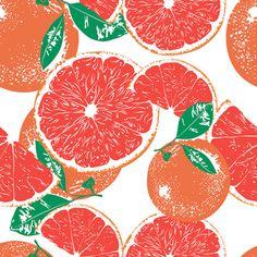 Fruit Pattern. Grapefruit.