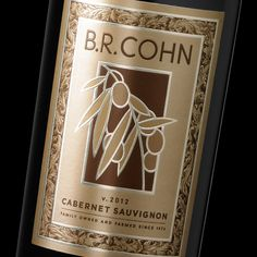 B.R. Cohn Gold Label ~ Wine Label Design