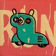 Street Animals 012+ on Behance #vectors #illustration #texture #cardboard