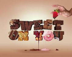 Create a Tasty 3D Typographic Illustration in Photoshop | Tuts+ Premium #lettering #awesome