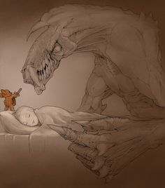 sweet halloween dreams by *begemott #bears #monsters #teedy