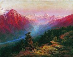Ilya Nikolayevich Zankovsky (1832-1919) #landscape #vintage #painting #art #mountains #trees