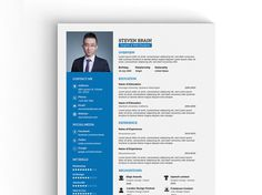 Free A4 Vector Professional Resume Template