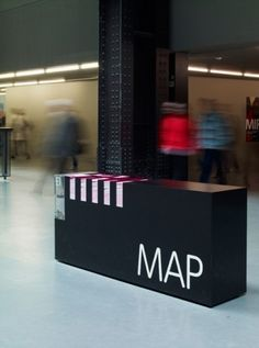Visitor map & dispenser | Cartlidge Levene #tate #map