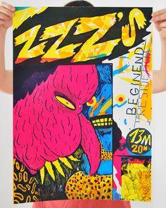 MARTÍN LÓPEZ LAM #poster #screenprint #illustration