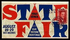 FFFFOUND! | Iowa State Fair 1965 | Sheaff : ephemera #type #lettering #iowa