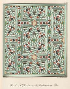 Mosaik-Fussböden aus der Taufkapelle zu Pisa #symmetry #print #color #pattern